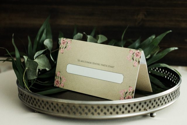 Place card (și plic pentru bani)