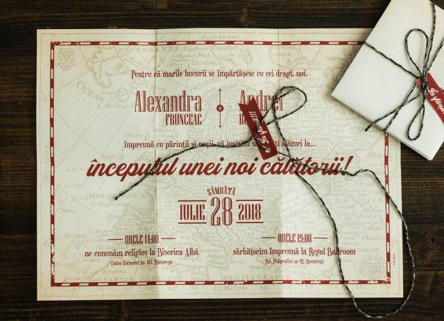 Invitație Hartă