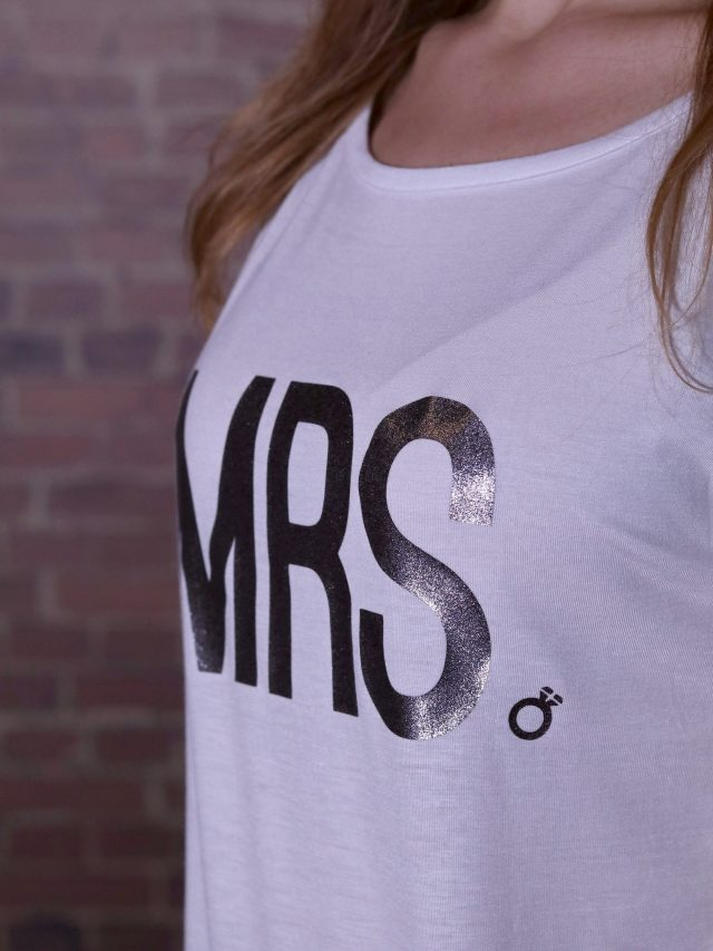 "Tricou lung / rochie ""MRS."""