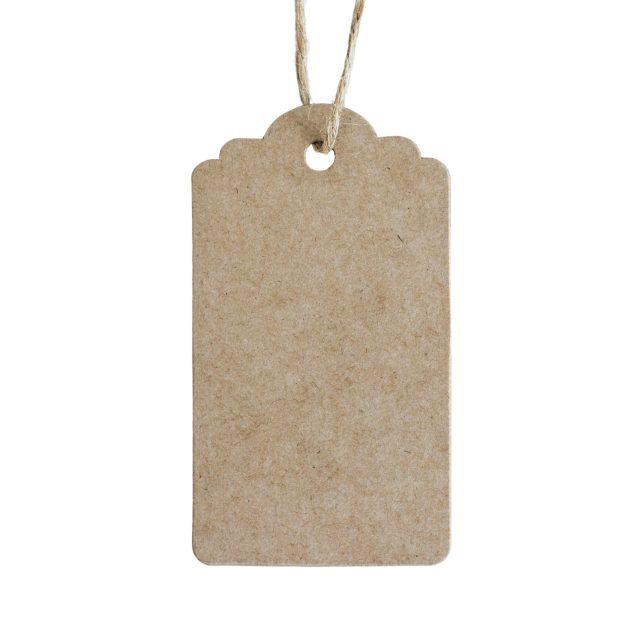 Etichete din carton kraft natur (Set 50 bucăți)