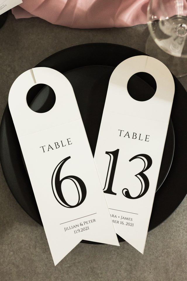 Numere de masă (se atașează pe sticle)